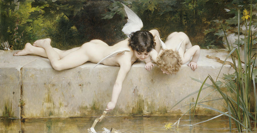 Pond Painting - The Rescue by Emile Munier