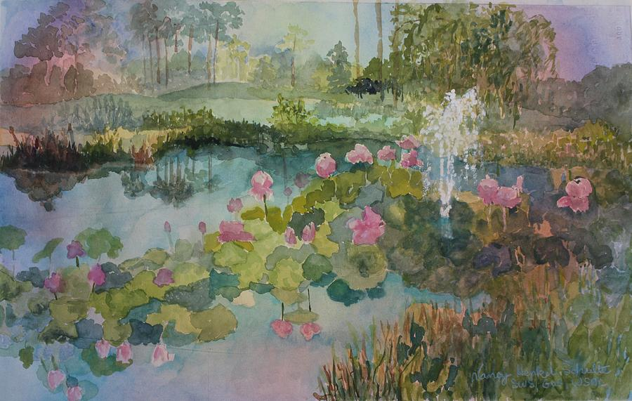Pond Painting - The Reserve by Nancy Henkel Schulte