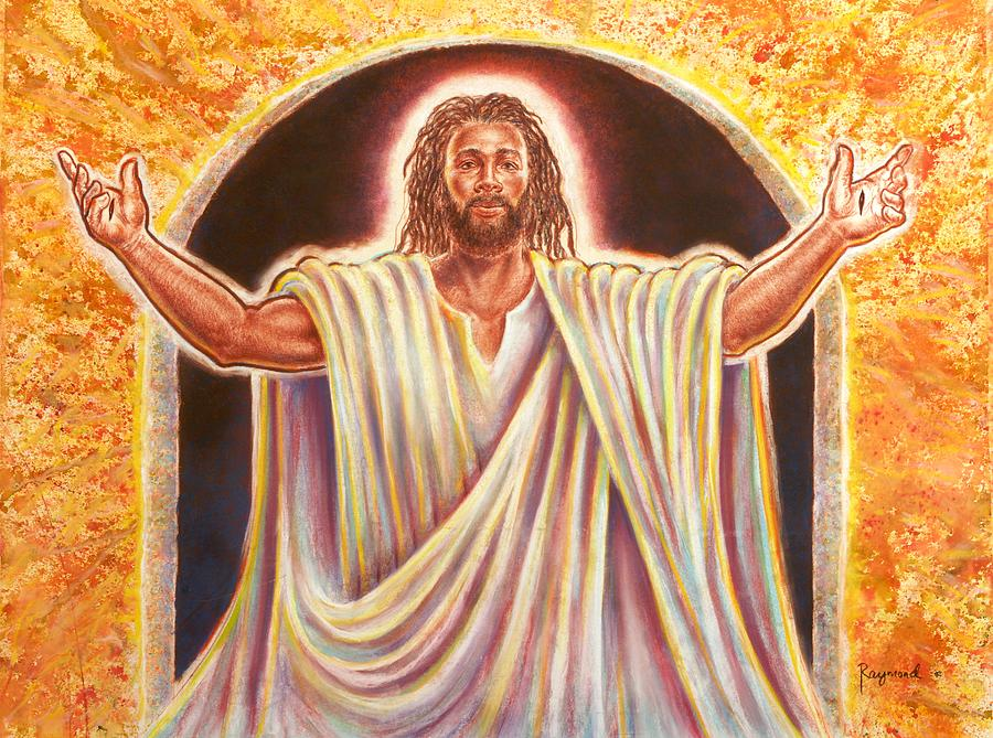 Jesus Painting - The Resurrection And The Life by Raymond Walker