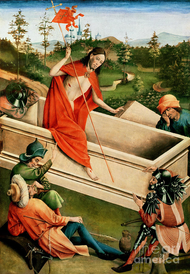The Painting - The Resurrection by Johann Koerbecke