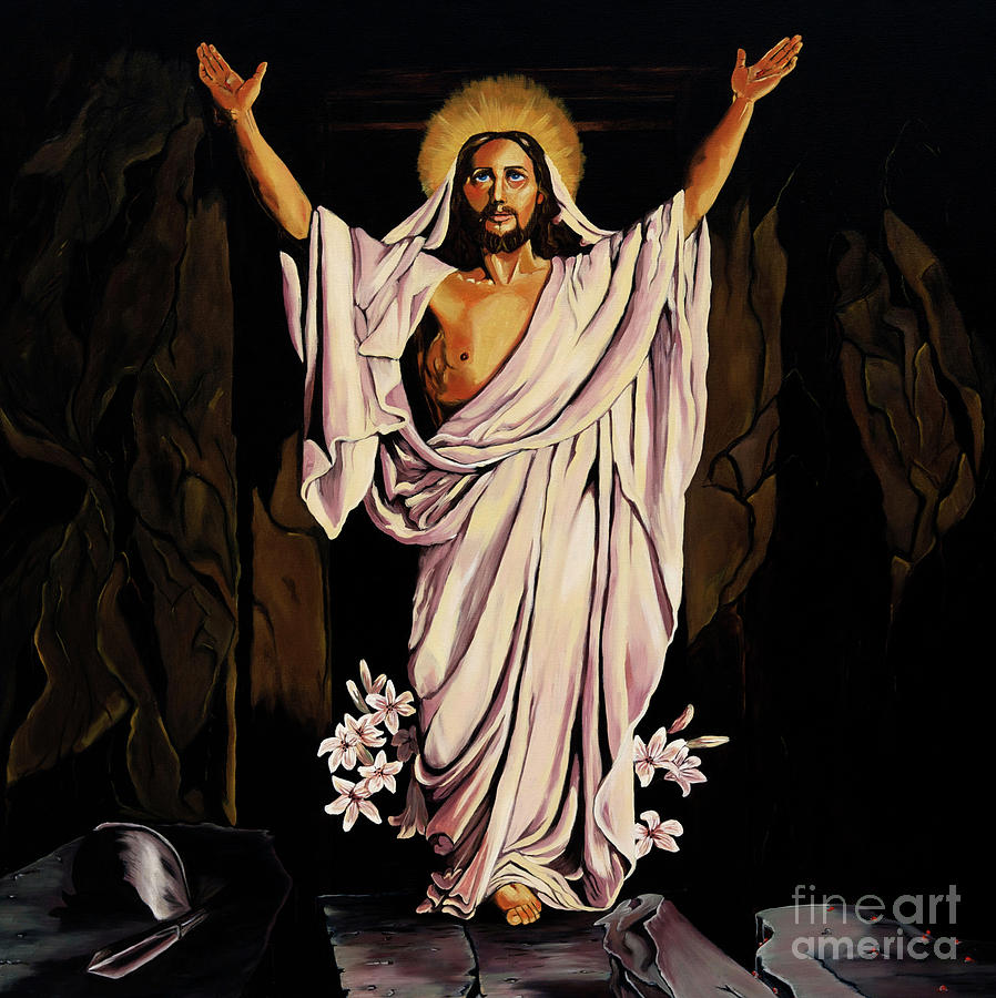 Religious Painting - The Resurrection by Milagros Palmieri