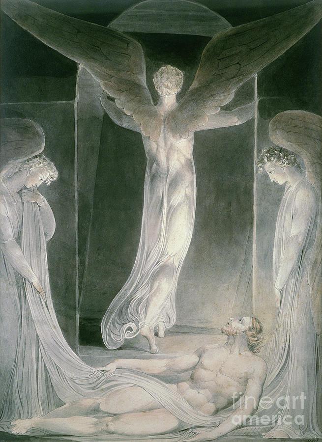 Blake Drawing - The Resurrection by William Blake