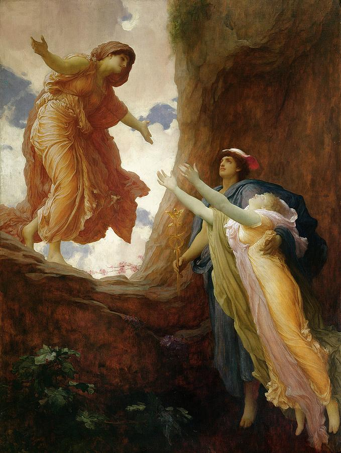 Wide Open Painting - The Return Of Persephone by Frederic Leighton
