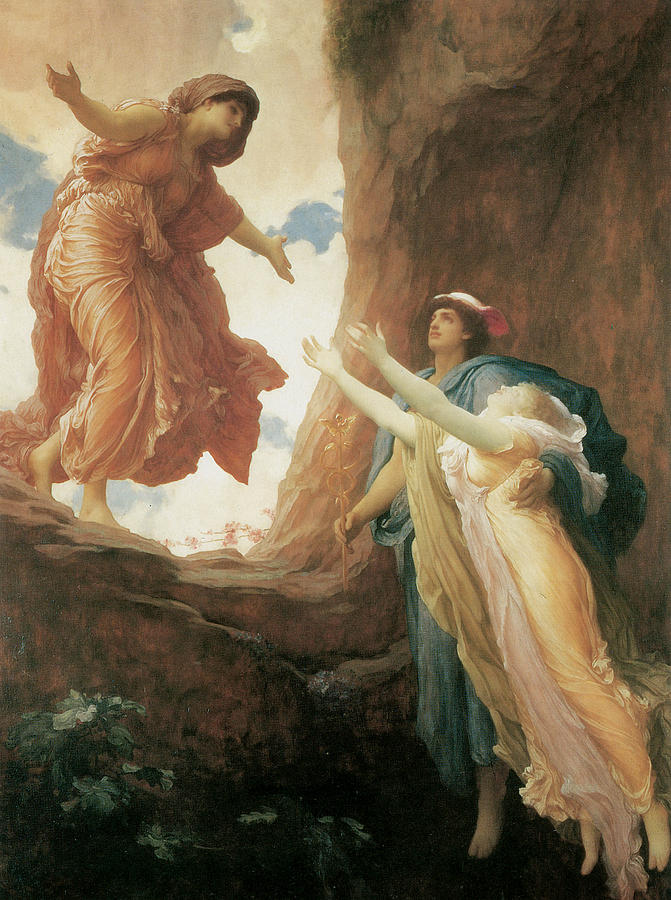 Frederick Leighton Painting - The Return Of Persephone by Frederick Leighton