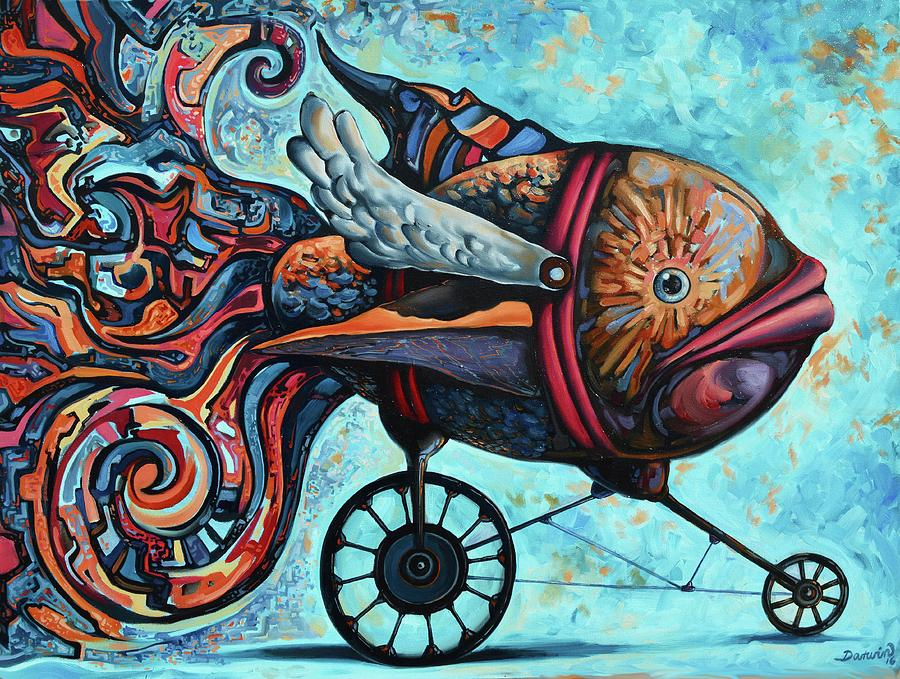 Abstract Painting - The return of the conqueror by Darwin Leon
