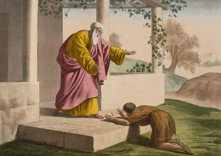 Prodigal Painting - The return of the prodigal son by French School