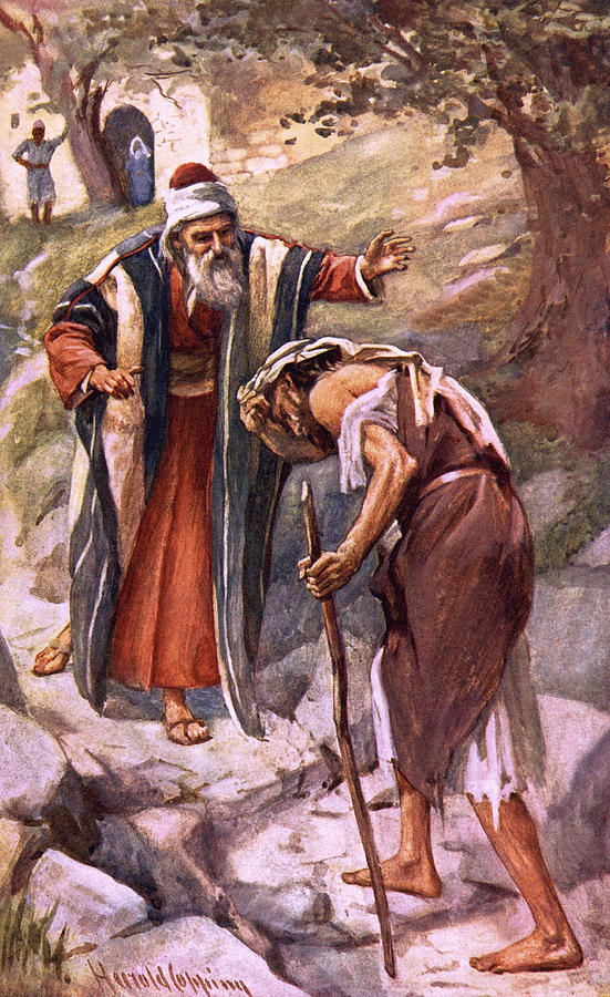 Prodigal Drawing - The Return Of The Prodigal Son by Harold Copping