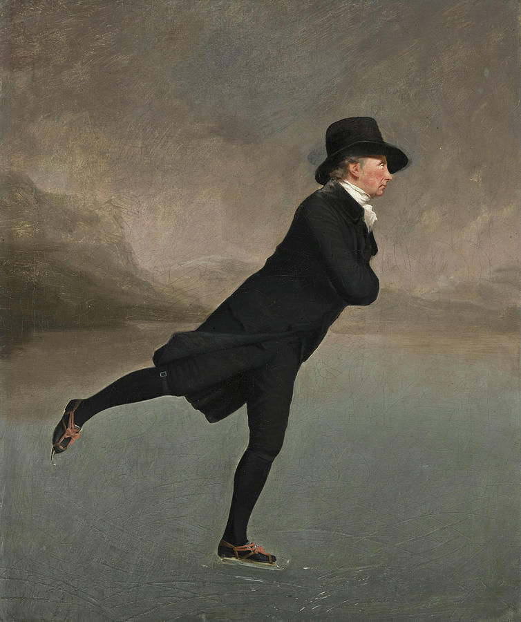 Minister Painting - The Reverend Robert Walker Skating on Duddingston Loch by Sir Henry Raeburn