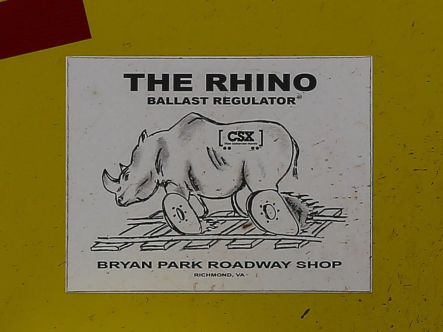 The Rhino Ballast Regulator Photograph by Dart and Suze Humeston
