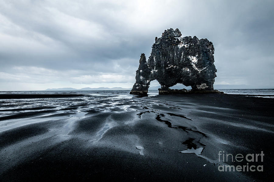 Iceland Photograph - The Rhino Stone by Paolo Sirtori