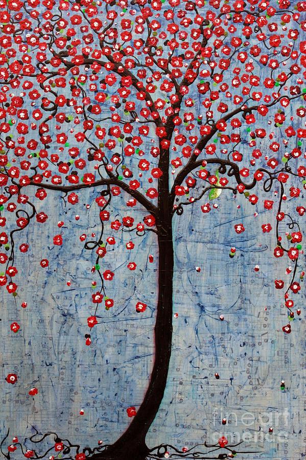 Cherry Blossoms Painting - The Rhythm Tree by Natalie Briney
