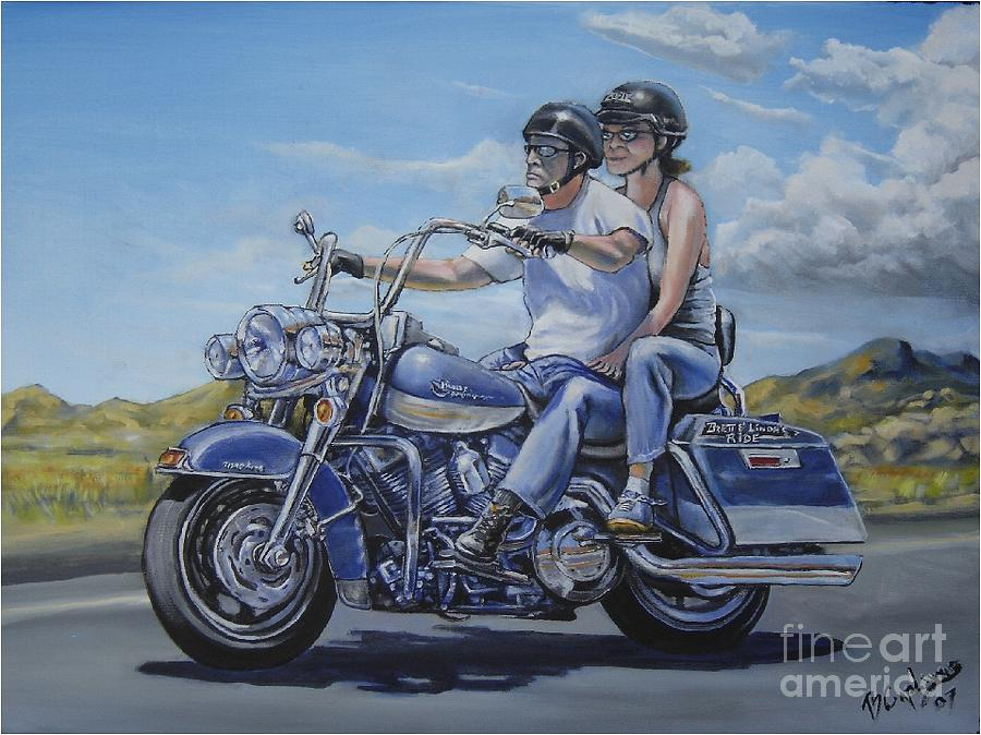 Motorcycle Painting - The Ride by Brett Caplinger