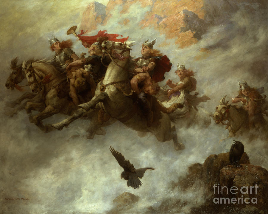 The Painting - The Ride Of The Valkyries  by William T Maud