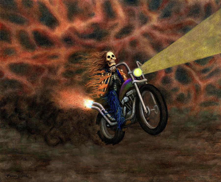 Bardo Mixed Media - The Ride Out Of Bardo by Bobby Beausoleil