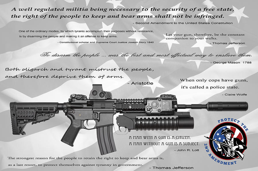Guns Digital Art - The Right To Bear Arms by Daniel Hagerman