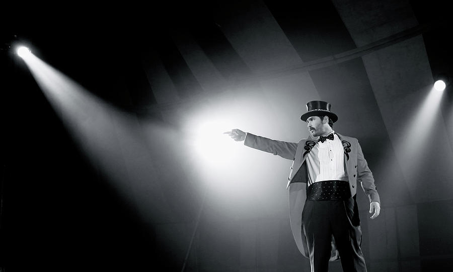 Black And White Photograph - The Ringmaster by Glennis Siverson