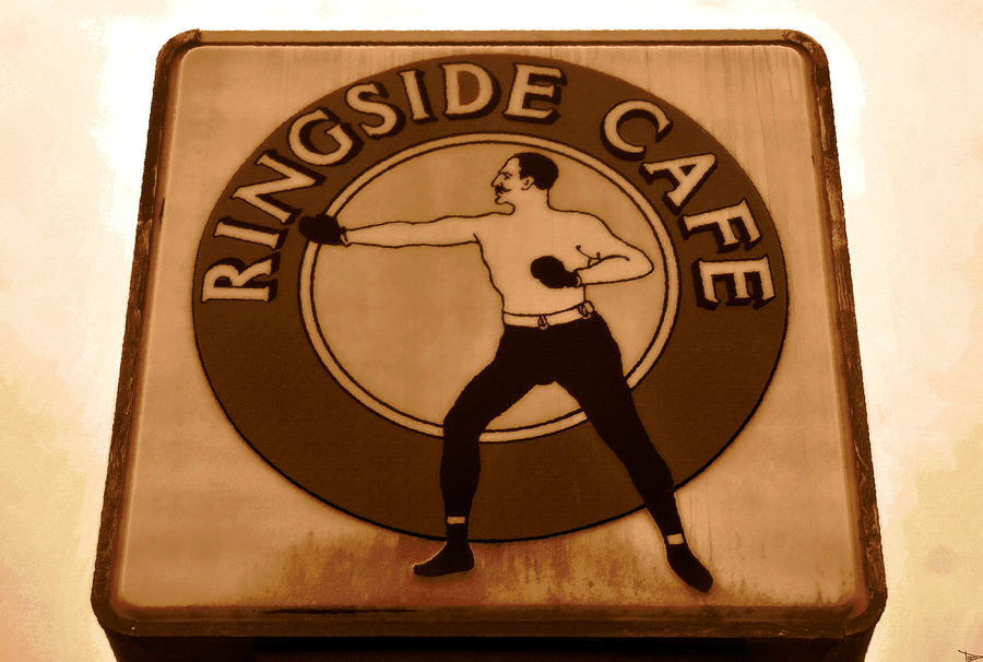 Artwork Painting - The Ringside Cafe by David Lee Thompson