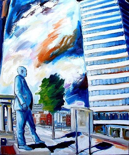 Dublin Painting - The Rise And Fall Of James Connolly by Caoimhghin OCroidheain