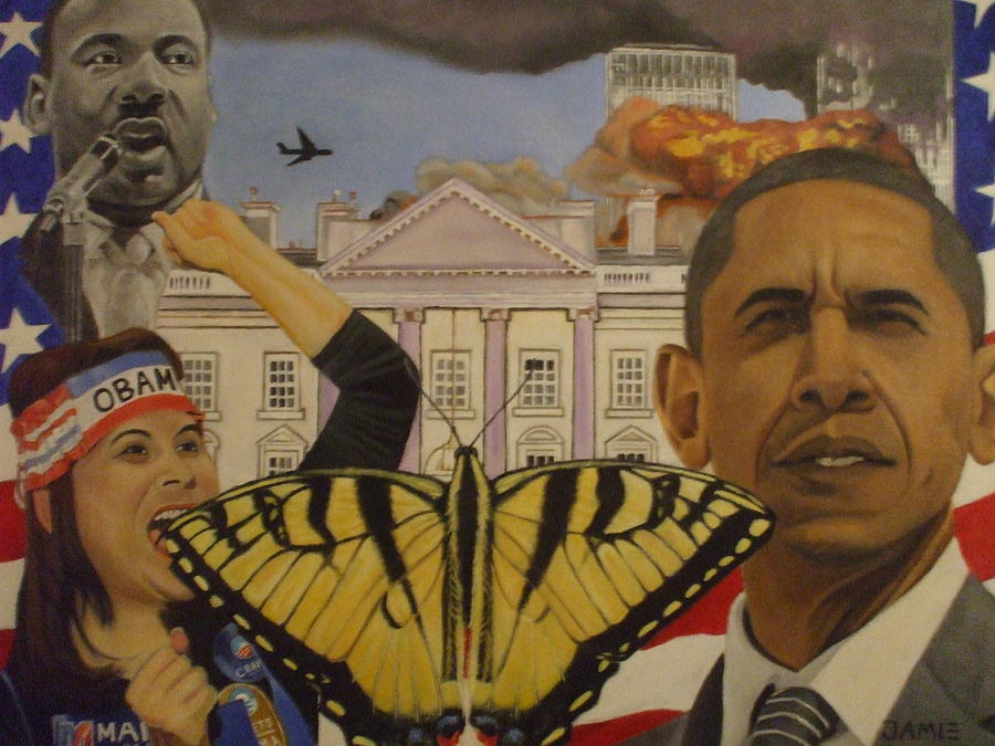 White House Painting - The Rise Of A Falling Nation  by Jamie Preston