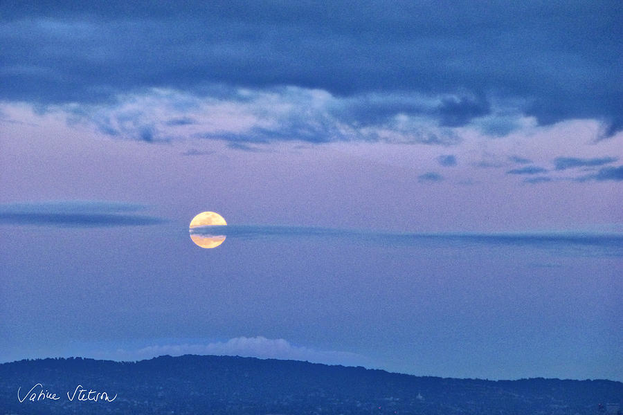 Rising Moon Photograph - The Rising by Sabine Stetson