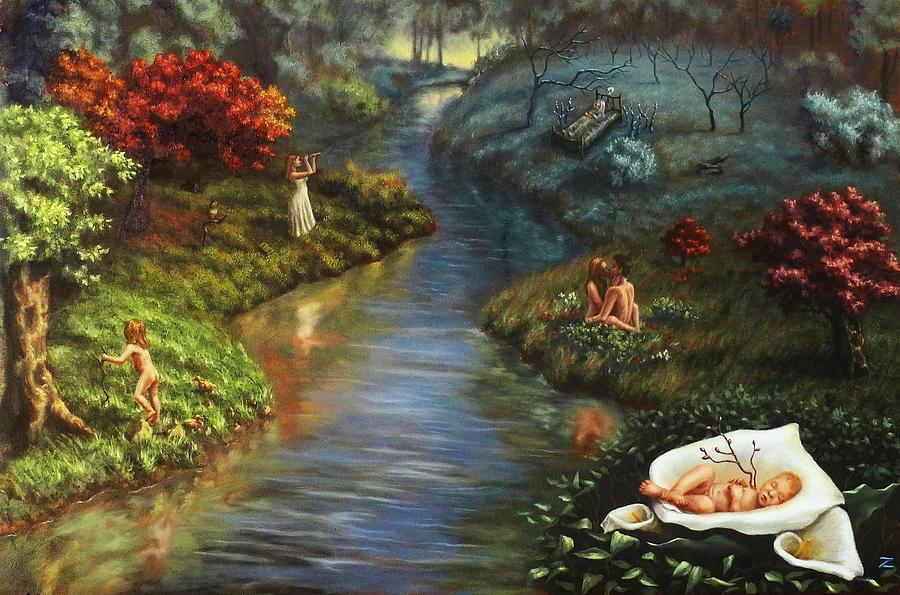 The River Of Life Painting by Zara Kand