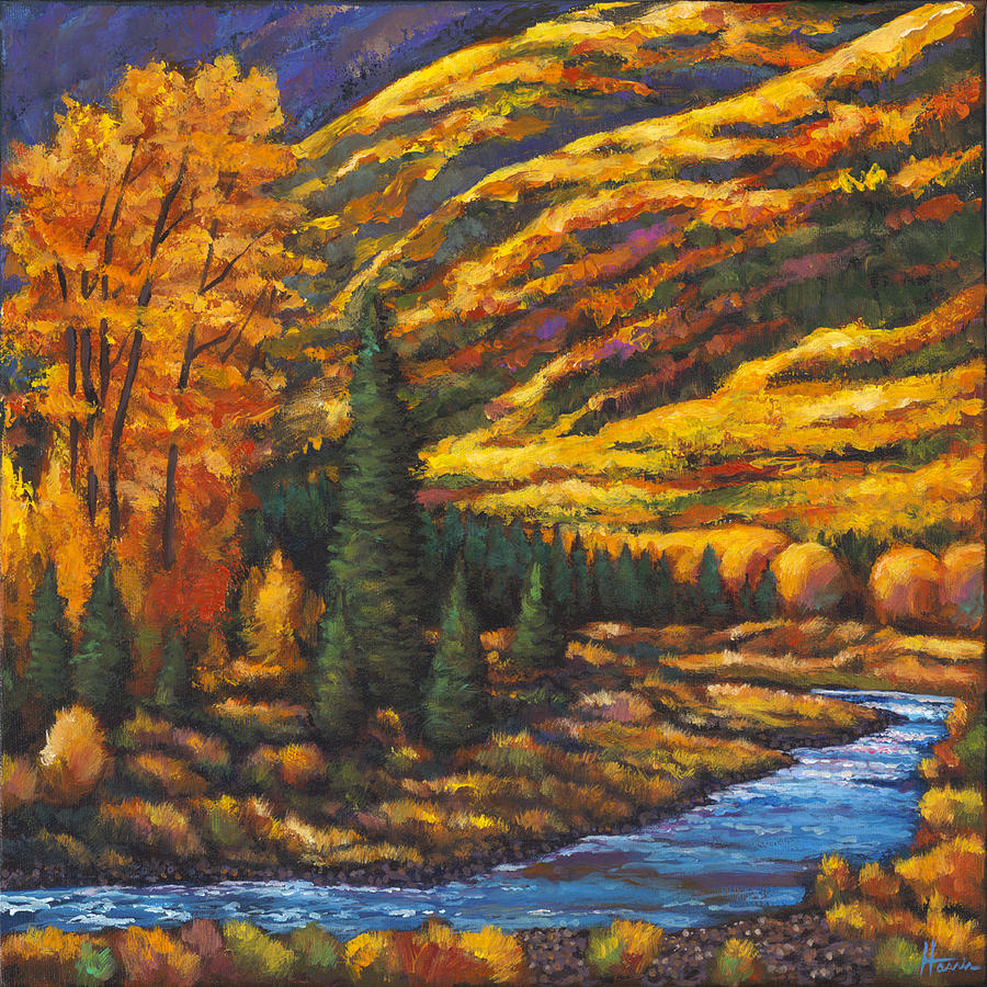 Landscape Painting - The River Runs by Johnathan Harris