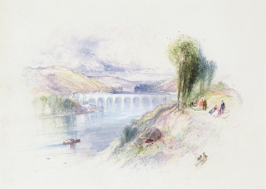 Bridge Painting - The River Schuykill by Thomas Moran