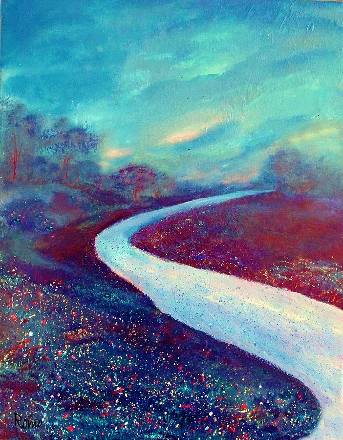 Landscape Painting - The Road - New Beginnings by Robin Monroe