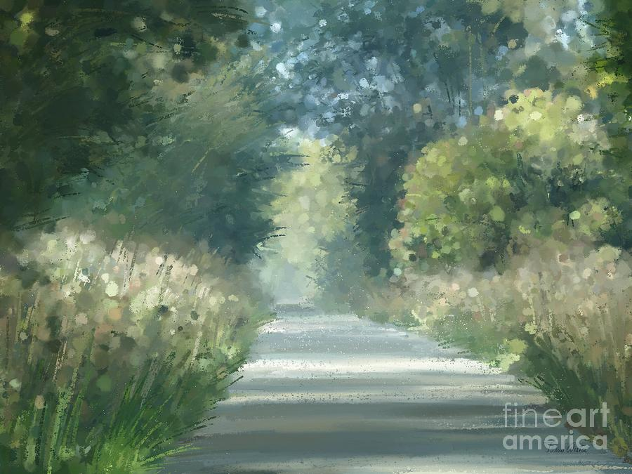 Painting Pastel - The Road Back Home by Ivana Westin