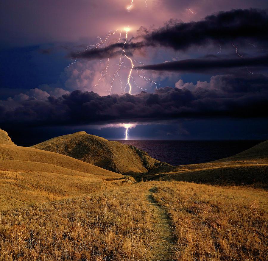 Dark Photograph - The Road Forward by Yuri Hope