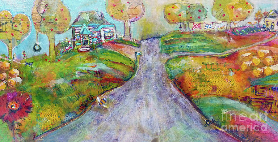 House Painting - The Road Home by Claire Bull
