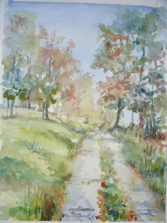 Landscape Painting - The Road Home by Dorothy Herron
