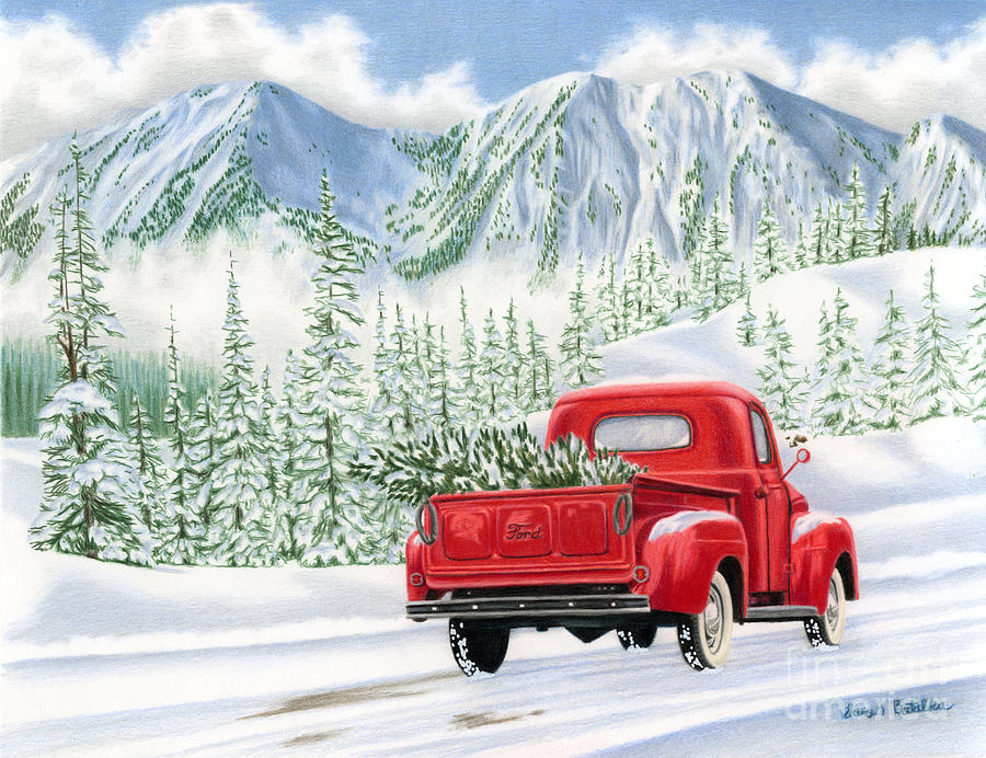the road home painting by sarah batalka Pickup Truck Clip Art Outline Slide Clip Art Black and White