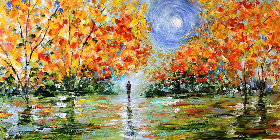 The Road Less Traveled Painting By Karen Tarlton