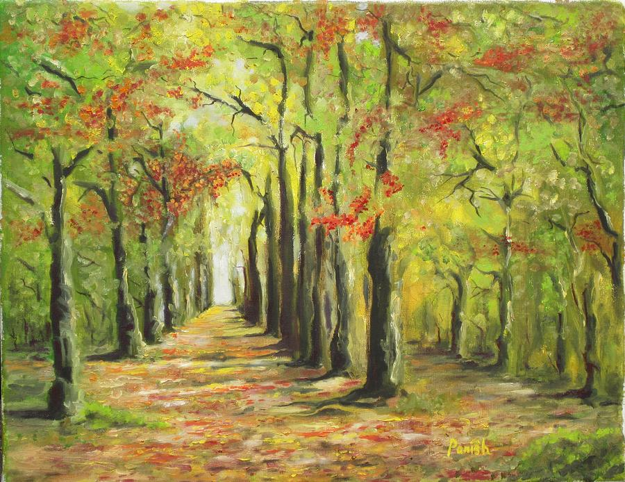 The Road Less Traveled Paintings By Parish on Prose Metal Wall Art