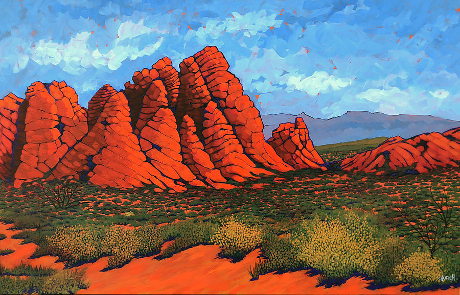 Red Cliffs Painting - The Road To Babylon by Ken Church