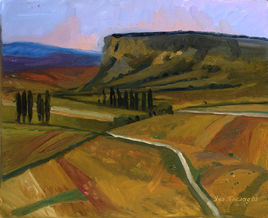The road to Grushevka by Yana Poklad