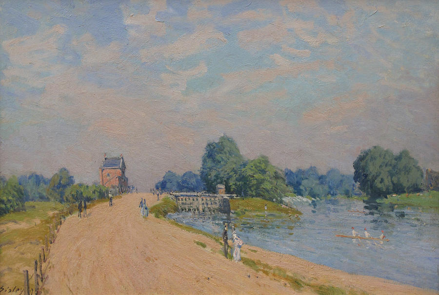 Alfred Sisley Painting - The Road To Hampton Court by Alfred Sisley