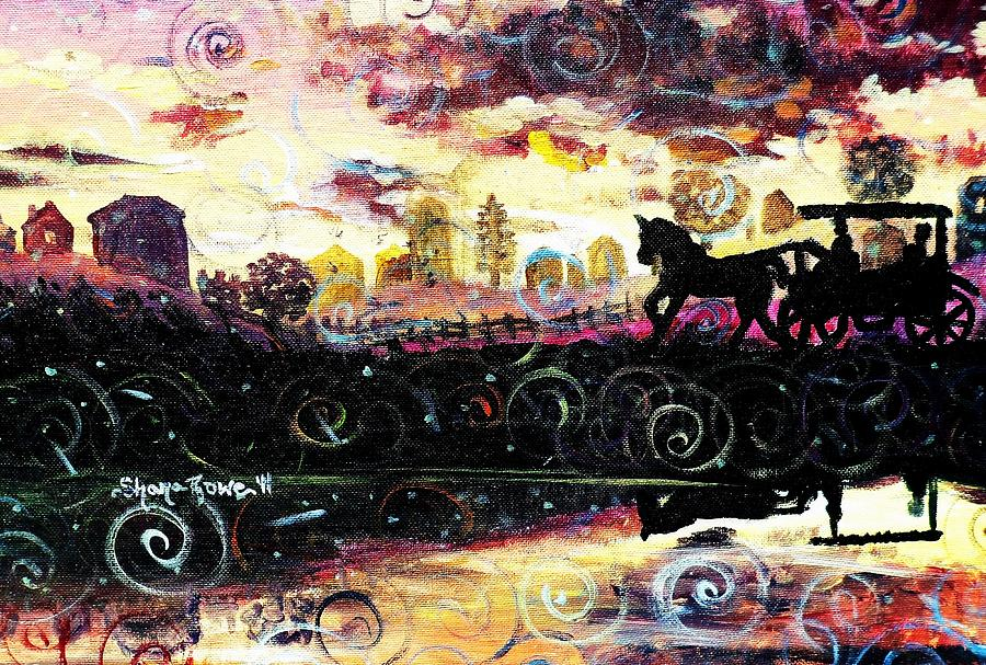 Horse And Buggy Painting - The Road To Home by Shana Rowe Jackson