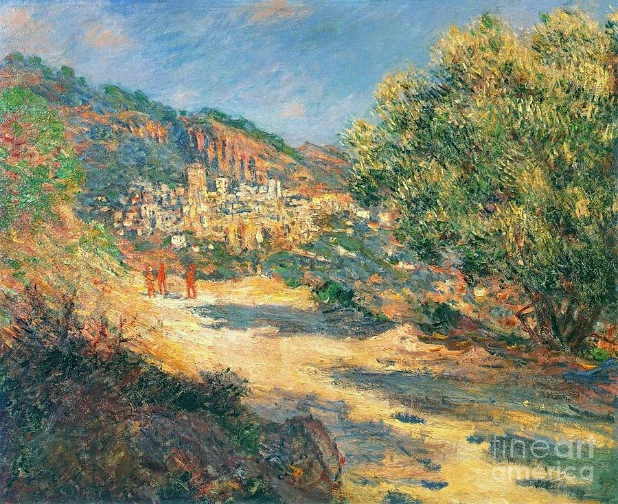 Claude Monet Painting - The Road To Monte Carlo by Monet