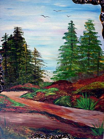 Landscape Painting - The Road To Nowhere by Donald Penwell
