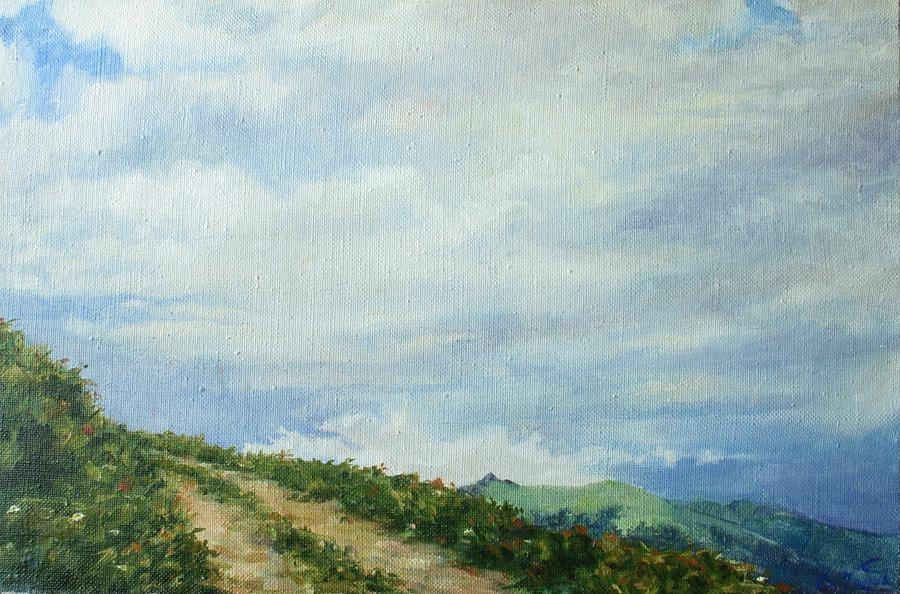 Armenia Painting - The Road To The Mountain by Tigran Ghulyan