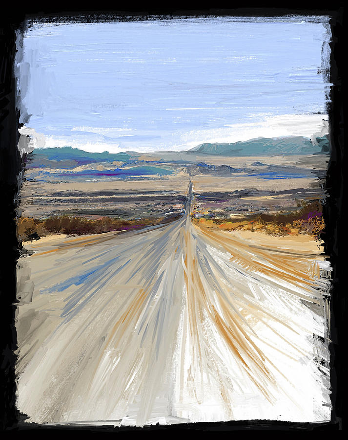 Landscape Mixed Media - The Road Trip by Russell Pierce