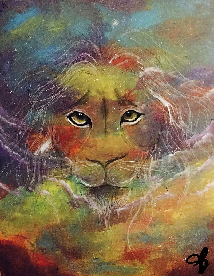 Lions Painting - The Roar  by Tera Burton