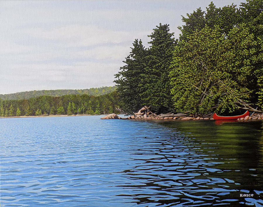The Rock at Goldstein's Moose Lake by Kenneth M Kirsch