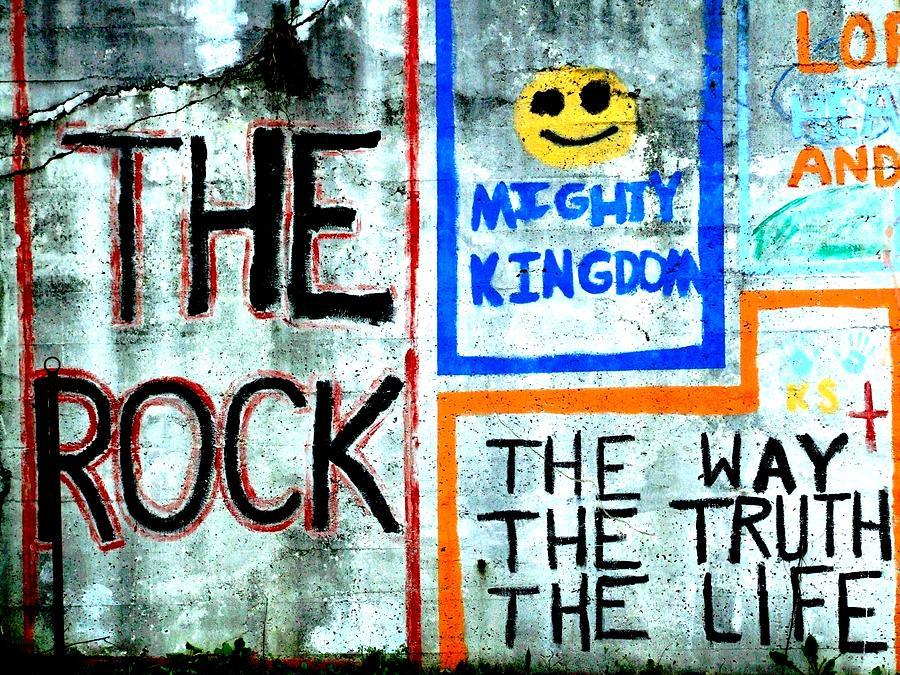 Grafitti Photograph - The Rock by Michael L Kimble