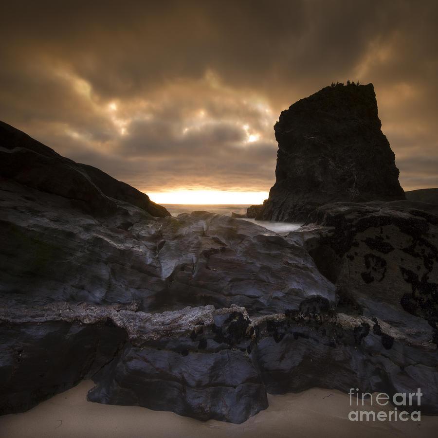 Bedruthan Steps Photograph - The Rocks by Angel  Tarantella