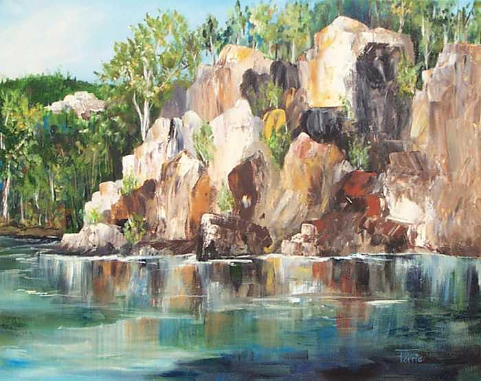 Lake Lure Painting - The Rocks Of Lake Lure - Sold by Torrie Smiley