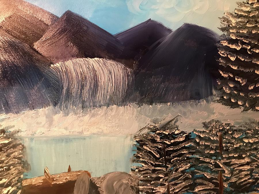 Mountain Painting - The Rocky Mountain by Cynthia Walker Wiggins