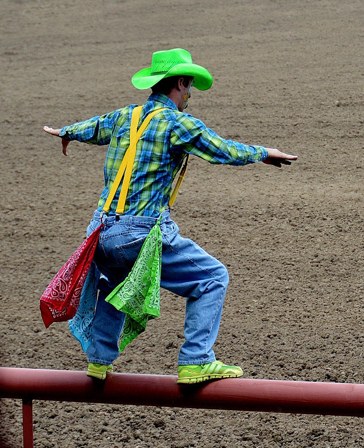 Clown Photograph - The Rodeo Clown by Fay Geddes